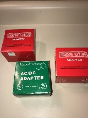3 DEPT 56 AC/DC  Adapter Lot #55026 & #52256 Battery Operated Brite Lites