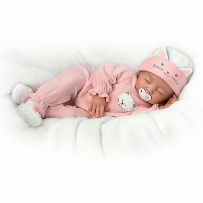 Ashton Drake Katie, My Sweet Little Kitten Lifelike baby doll by Mayra Garza