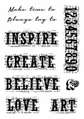 Woodware Clear Magic Vintage Inspiration stamp FRS650