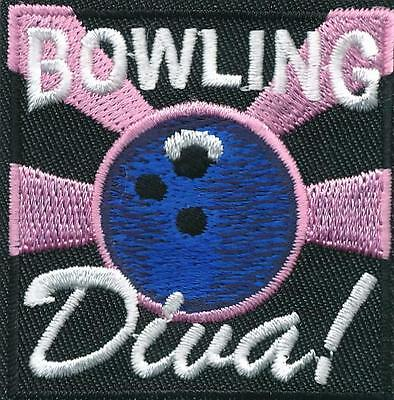 GIRL BOY CUB BOWLING DIVA game Fun Patches Crests Badges SCOUT GUIDE Bowler