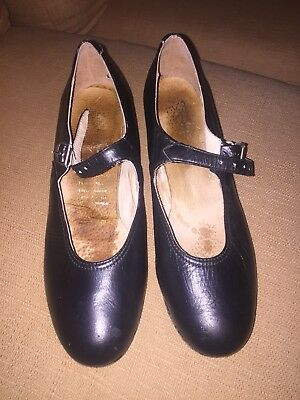 Beautiful Mexican Folklorico Shoes Size 25 & Us 7 Nwot