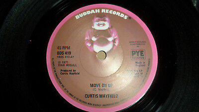 Curtis Mayfield 'move On Up' Bds 410 Buddah Records 1974 Uk Re-Issue