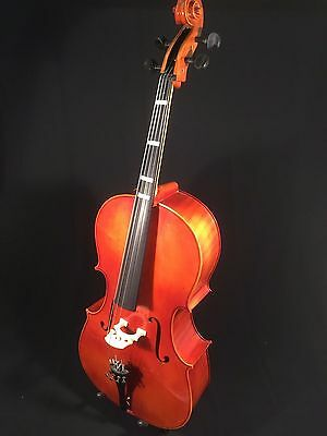 "Cello, 4/4 size, 30"" body depth with a beautiful flamed back, Made in Hungary"