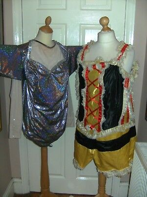 Pantomime Dame Costume X 2 Lady Gaga Style Theatrical Panto Stage Show Theatre