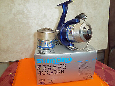 Shimano Nexave 4000RB reel, boxed with spare spool