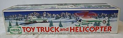 1995 Hess Toy Truck and Helicopter New in Box Hess Advertising Gas & Oil