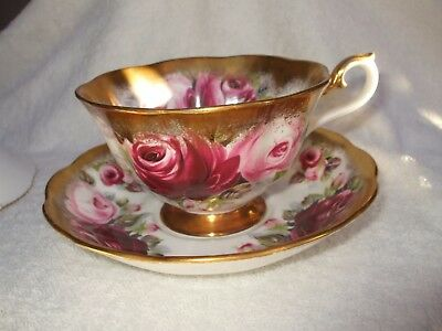 Royal Albert Summer Bounty Series 'ruby' Cup And Saucer
