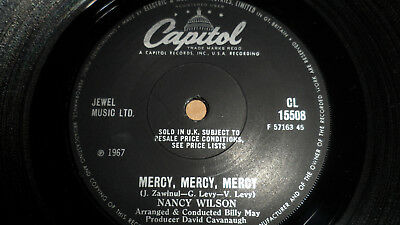 Nancy Wilson 'mercy, Mercy, Mercy' Cl 15508 Capitol Records 1967 Uk Issue