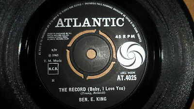 Ben E King 'the Record (Baby, I Love You)' At.4025 Atlantic Records 1965 Uk Issu