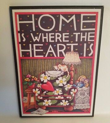 Mary Engelbreit Home is Where the Heart Is Colorplak Wall Hanging Wood Card