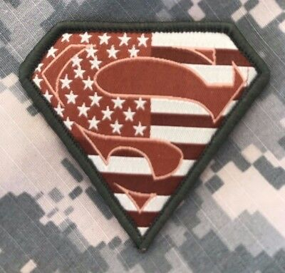 HLK Culpeper Tactical Morale Hook Patch Embroidered Superman USA Multitan