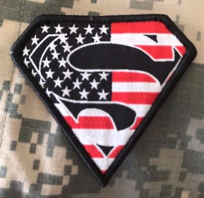 HLK Culpeper Tactical Morale Hook Patch Embroidered Superman USA Full Color