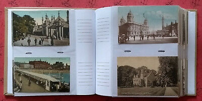 UK Topo Collection, 200 Postcards, 1900s - 1960s, Most Earlier, in Modern Album