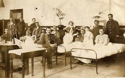 "Pc Photo View Hospital Ward, Red Cross Nurses. ""To sister Mary...Jack"""
