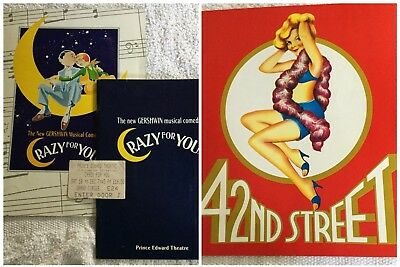 Crazy For You & 42Nd Street Programmes Ruthie Henshall Craig Revel Horwood