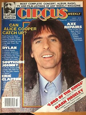 Alice Cooper Circus Weekly Magazine December 1978