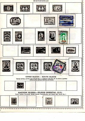 Guatemala stamps x28 loose and album page some early copies