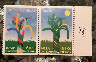 2006 EUROPA CEPT GRÈCE (GREECE). 2 Timbres (Stamps)