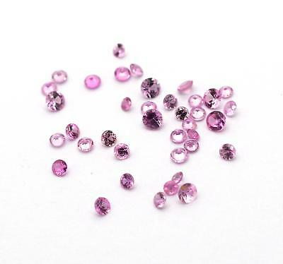 1.75ct 38x Round Natural Pink Sapphire Loose Gemstones Mixed Lot 1.5mm - 2.5mm