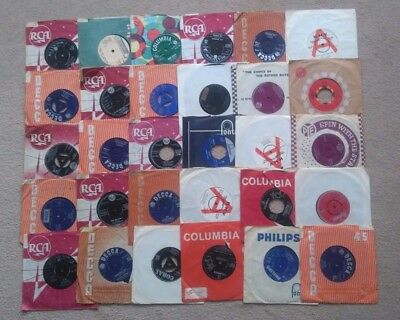 "Job lot collection of 30 X 7"" singles 45s from the 1950s and 1960s"