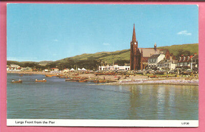 Largs Front form the Pier, Ayrshire, Scotland postcard. Dennis.