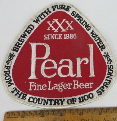 unused PEARL Beer San Antonio TEXAS TX old large patch Driver Jacket IRON or SEW