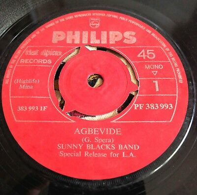Sunny Black's Band - Agbevide - Rare Benin Philips West African *LISTEN*