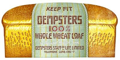 RARE Early Dempster's Whole Wheat Bread-Shaped Canadian Advertising Blotter