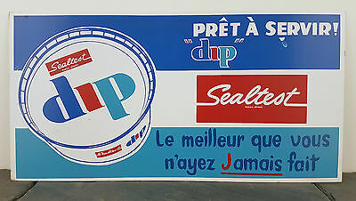 "1960's Sealtest Dairy Dip RARE French Canadian Metal Sign 12"" x 23.75"" Chip, Veg"