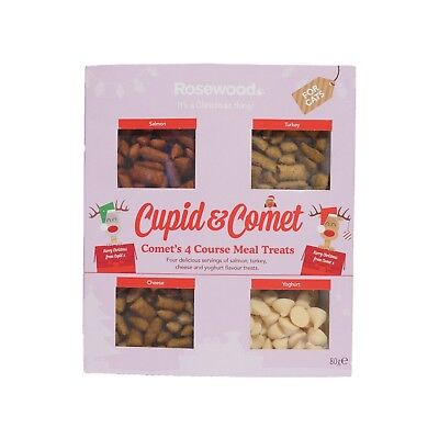 Cupid & Comets Cat Xmas Treats 4 Course Christmas Meal For Cats