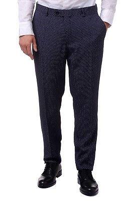 SCOTCH & SODA ATELIER W37 Men's 32285 Spotted Turn-Up Cuffs Flat Front Trousers