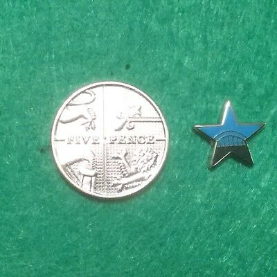 Stunning Tiny Newcastle United Blue Star Pin Badge