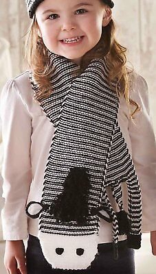 Mud Pie Baby Toddler Boy & Girl Zebra Knit Acrylic Scarf 173070