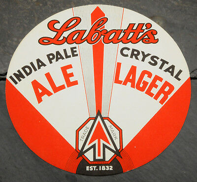 1940's Labatt's India Pale Ale Canadian Beer Advertising Serving Tray Liner/Mat