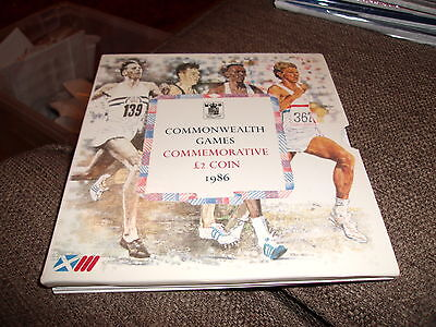 Uk 1986 Commonwealth Games Two Pound Coin. Uncirculated £2 In Presentation Pack.