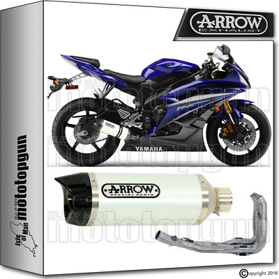 Arrow Full Exhaust System Thunder White Carby Cup Hom Yamaha Yzf 600 R6 2006 06