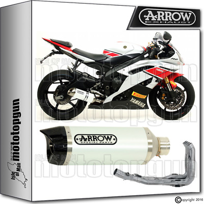 Arrow Full Exhaust System Thunder White Carby Cup Hom Yamaha Yzf 600 R6 2013 13