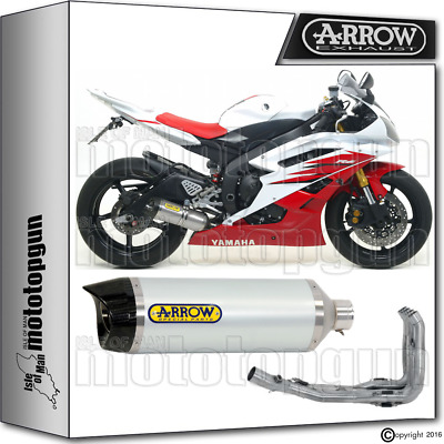 Arrow Full Exhaust System Thunder Carby Cup Hom Yamaha Yzf 600 R6 2006 06