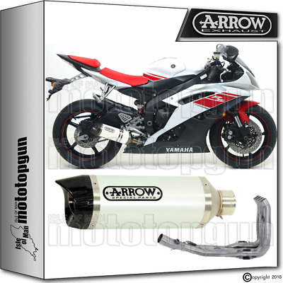 Arrow Full Exhaust System Thunder White Carby Cup Hom Yamaha Yzf 600 R6 2008 08