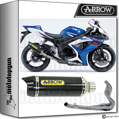 Arrow Full Exhaust System Thunder Carbon Carby Cup Hom Suzuki Gsx-R 750 2007 07