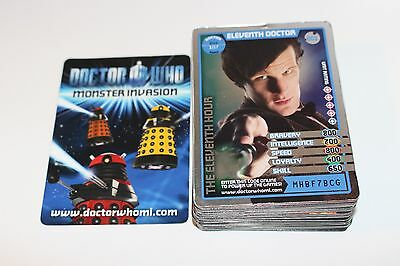 Doctor Who Monster Invasion Trading Cards Bundle of 59 Cards NM