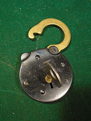 VINTAGE EAGLE DOUBLE PADLOCK No 2  w/KEY: NEW OLD STOCK - FREE POSTAGE  (8984-A)