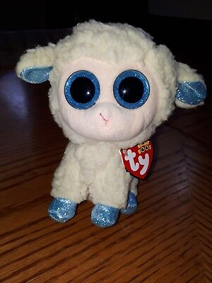 TY Beanie Boo Olga Lamb/sheep UK Exclusive tags attached Rare