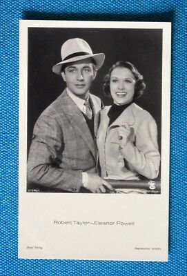 Robert Taylor & Eleanor Powell Postkarte Postcard Ross Verlag 1930er AK