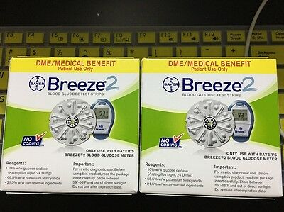 Bayer's Breeze 2 DME Test Strips (100cts) NDC# 0193146850 Exp02/2019