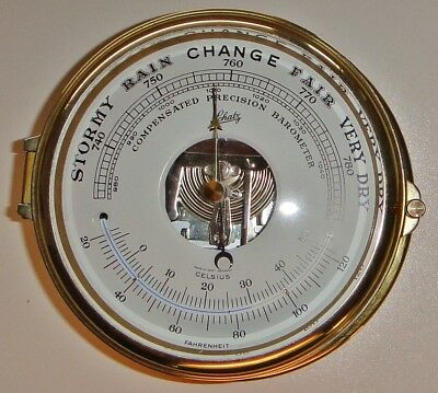 SCHATZ COMPENSATED PRECISION BAROMETER THERMOMETER (West Germany)