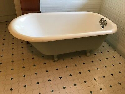 Antique Claw Foot Bath Tub in 110 years old Home - Perfect Shape New Porcelain,