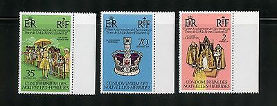 New Hebrides (French) Complete MNH Set #233-235 Queen's Visit Stamps