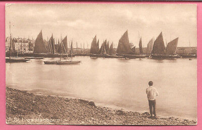 St. Ives Harbour, Cornwall postcard. Frith's Series.