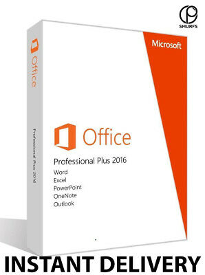 Microsoft Office 2016 Pro Professional Plus Licence Key INSTANT DELIVERY